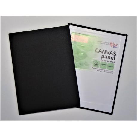 Plátno malířské na desce černé -  24x18 cm