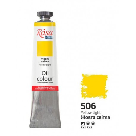 ROSA Studio - Žlutá světlá 60ml - Olejová barva