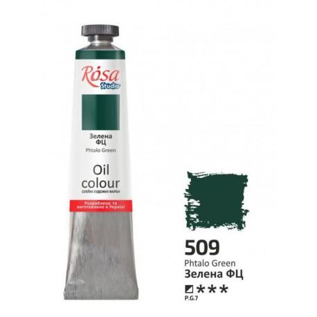 ROSA Studio - Zelená Phthalo 60ml - Olejová barva
