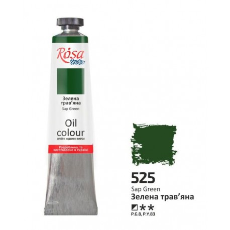 ROSA Studio - Zelená světlá 60ml - Olejová barva